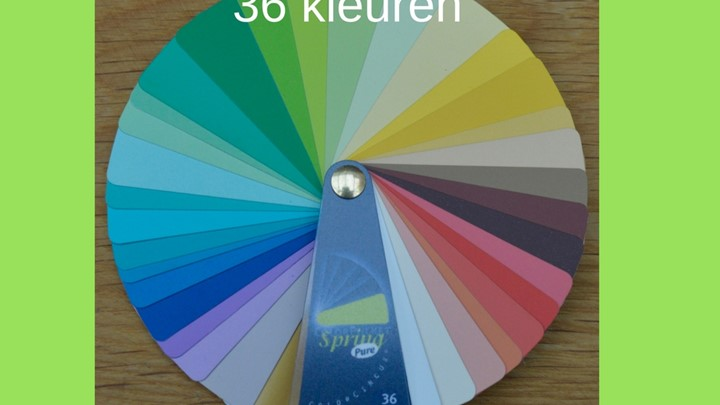 Kleurenwaaier warme lentetype 36 kleuren Colour Me Beautiful