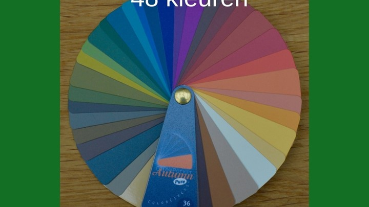 Kleurenwaaier warme herfsttype 36 kleuren Colour Me Beautiful