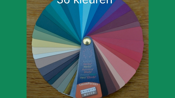 Kleurenwaaier neutrale herfsttype 36 kleuren Colour Me Beautiful
