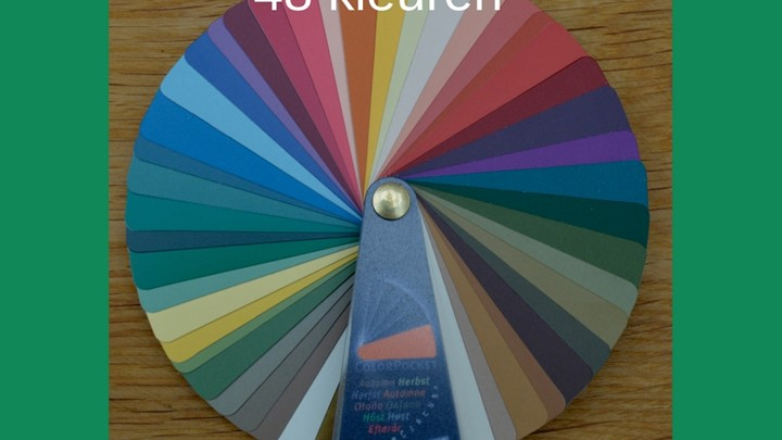 Kleurenwaaier neutrale herfsttype 48  kleuren Colour Me Beautiful