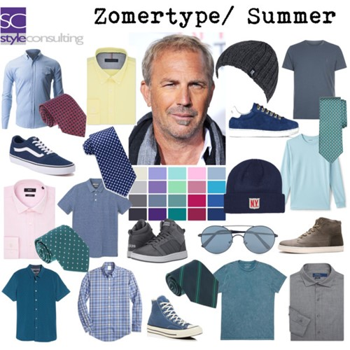Zomertype (man). Summer color type (men).