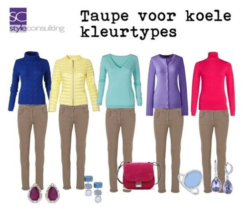 Taupe is een ideale neutrale kleur.