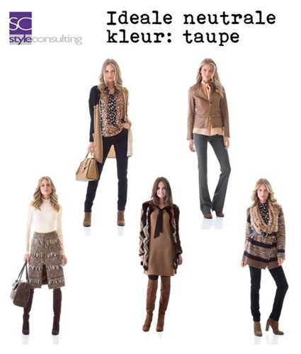 Taupe is een ideale neutraal.
