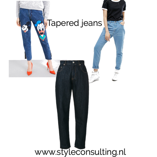 Tapered jeans.